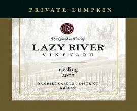 Lazy River Vineyard 2011 Riesling
